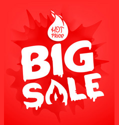 big sale banner template hot price concept splash vector image