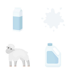 billet pack sheepblue canistermoloko set vector image