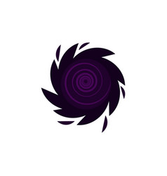 black hole icon isolated vector image