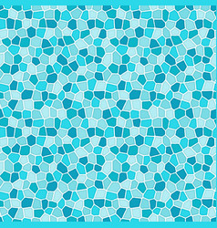 blue abstract mosaic seamless pattern vector image
