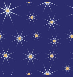 blue and white christmas stars seamless pattern vector image