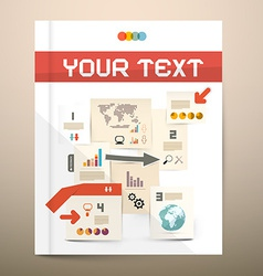 Brochure cover design - infographics layout - vector