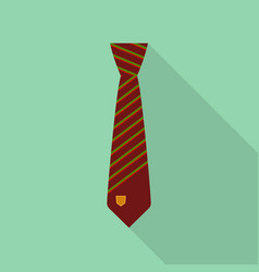 brown tie icon flat style vector image