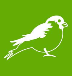 bullfinch icon green vector image
