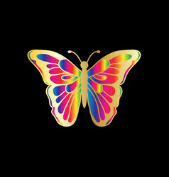butterfly beauty business logo vector image