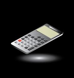calculator isometric design vector image