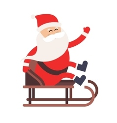 Cartoon Santa Claus driver sled delivery vector image