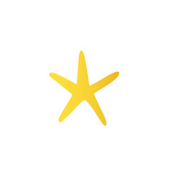 cartoon yellow starfish icon vector image
