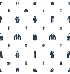 casual icons pattern seamless white background vector image