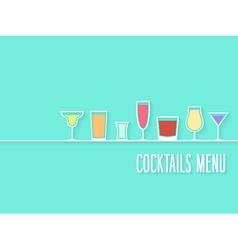 Cocktails Menu vector