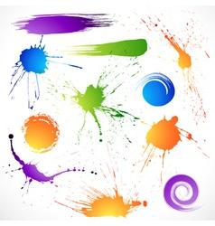 Collection brush strokes vector