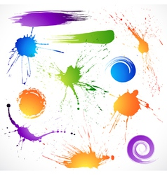 collection of brush strokes vector image