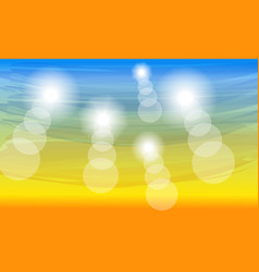 color sunny summer background vector image