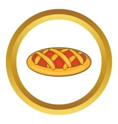 Delicious cherry pie icon vector