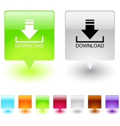 Download square button vector