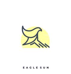eagle sun template vector image