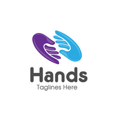 family hands care logo vector image