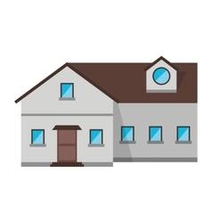 Family house exterior concept design vector