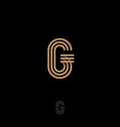 g letter monogram gold lines vector image