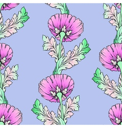 Garden pink flowers Seamless hand-painted soft vector