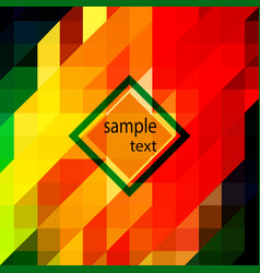 Geometric background of red yellow vector