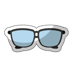 Glasses accessory isolated icon vector