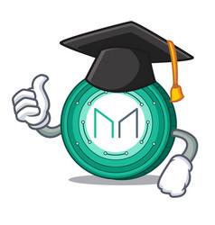 Graduation maker coin character cartoon vector