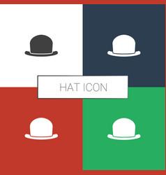 Hat icon white background vector