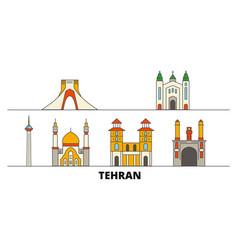 iran tehran flat landmarks vector image