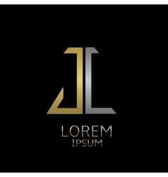 JC letters logo vector image