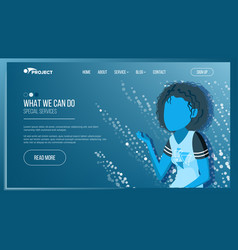 Main web page design business concept vector