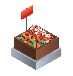 market biscuit box icon isometric style vector image