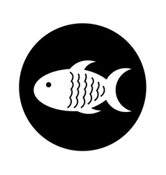 Meat fish isolated icon vector