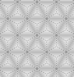 Monochrome gradually striped cubes vector