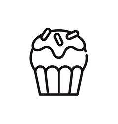 muffin icon vector image