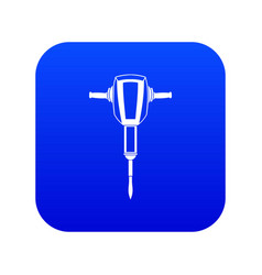 Pneumatic plugger hammer icon digital blue vector