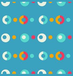 Pop up bubbles symmetry seamless pattern vector