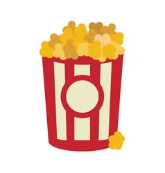 Popcorn food in the cinema movie eat vector