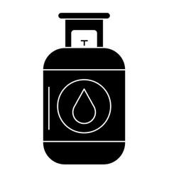 Propane gas tank icon vector