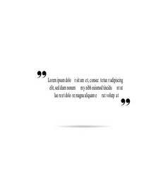 quote template for text vector image