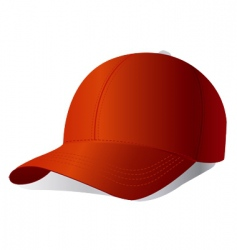 Red cap vector