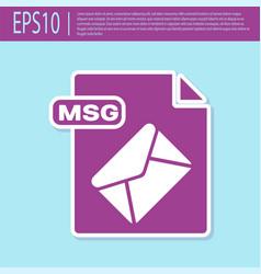 Retro purple msg file document download msg vector
