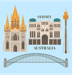 sightseeing and landmark architecture australia vector image