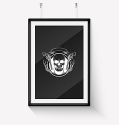 sketch hand drawn hunter skull vector image