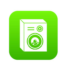 studio speakers icon green vector image