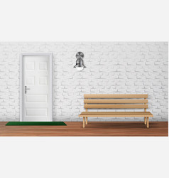 stylish exterior of country cottage terrace vector image