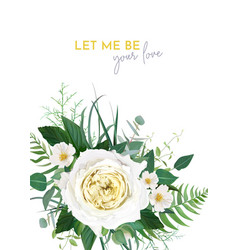 stylish trendy floral wedding invite card design vector image