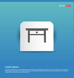 Table icon - blue sticker button vector