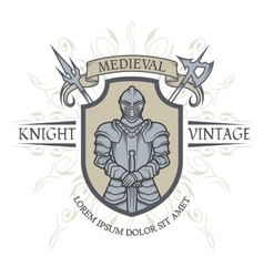 The emblem of the Middle Ages vector image
