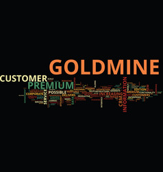 The new goldmine premium text background word vector